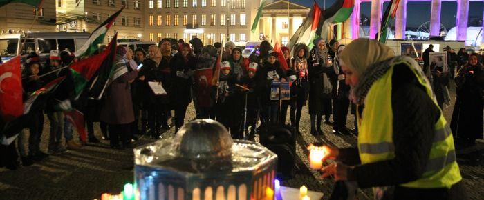 ABD'nin Kudüs kararına Berlin'de protesto