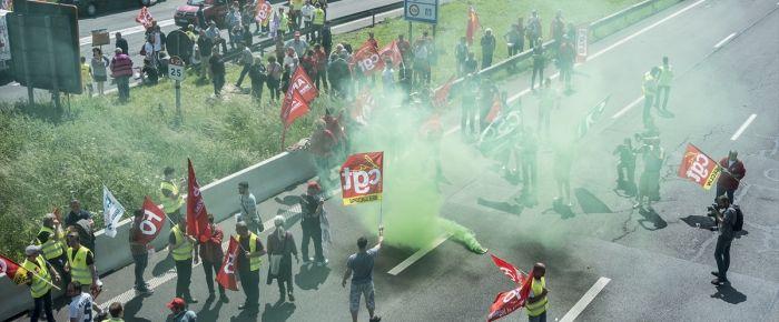 Fransa-Belçika sınırında eylem