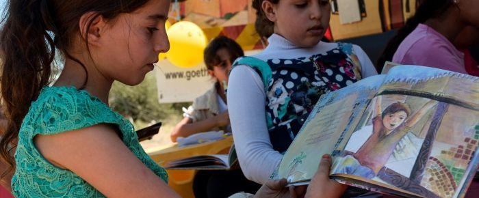Gazzeli çocuklar için gezici kütüphane