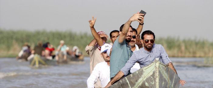 Irak'ta bataklıkta yaşayanlar
