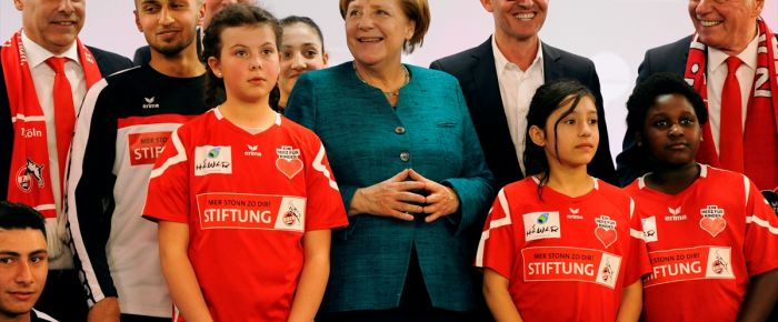 Merkel 'Biz Beraberiz' platformunda