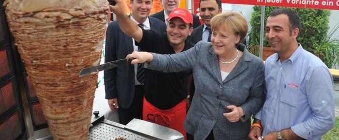 Merkel döner işini sevdi