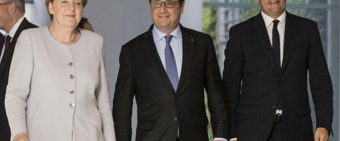 Merkel, Hollande ve Renzi buluştu