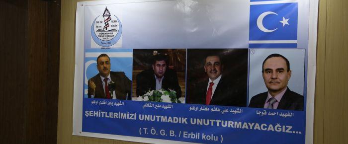 Türkmen şehitleri Erbil'de anıldı