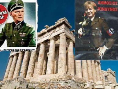 Yunanlılar Almanlara ateş püskürüyor